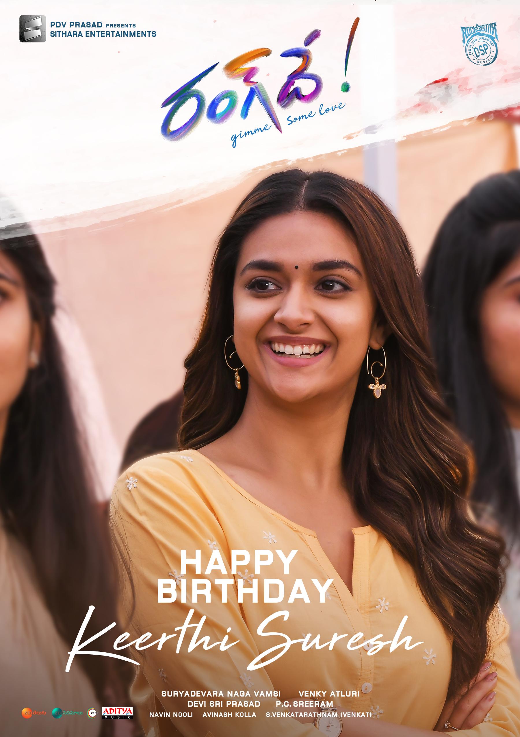 RangDe - Keerthy Bday Poster